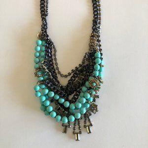 Stella & Dot Turquoise Bead Statement Necklace